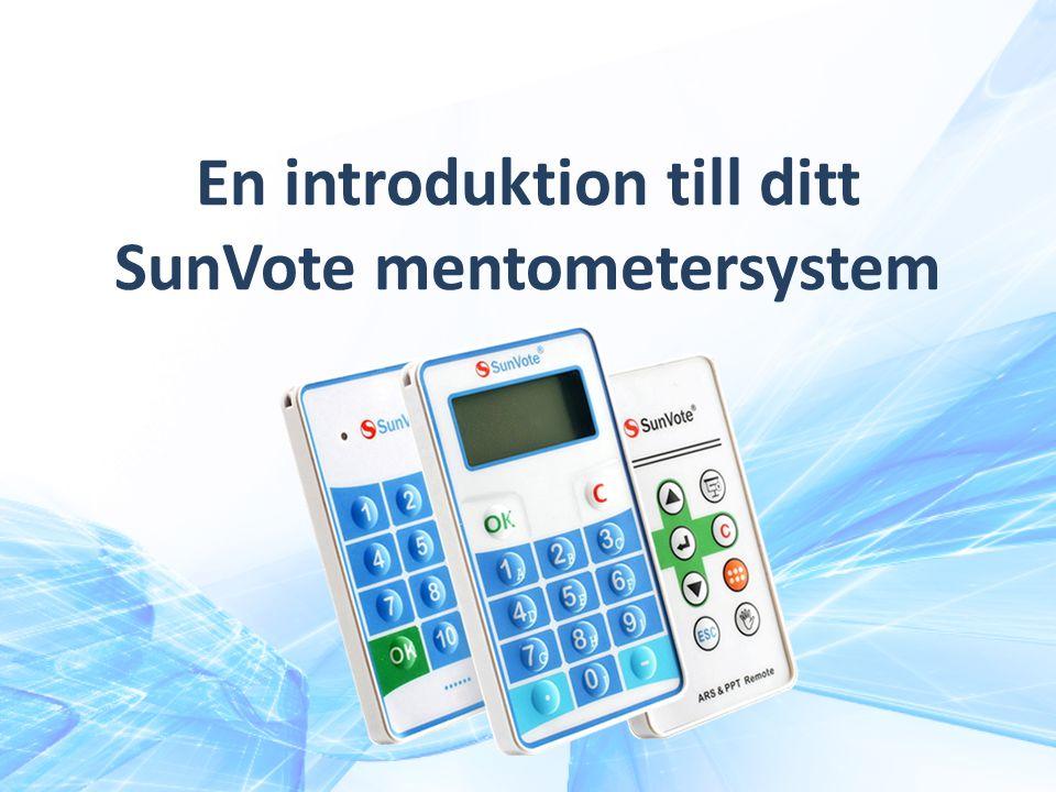 En introduktion till ditt SunVote mentometersystem