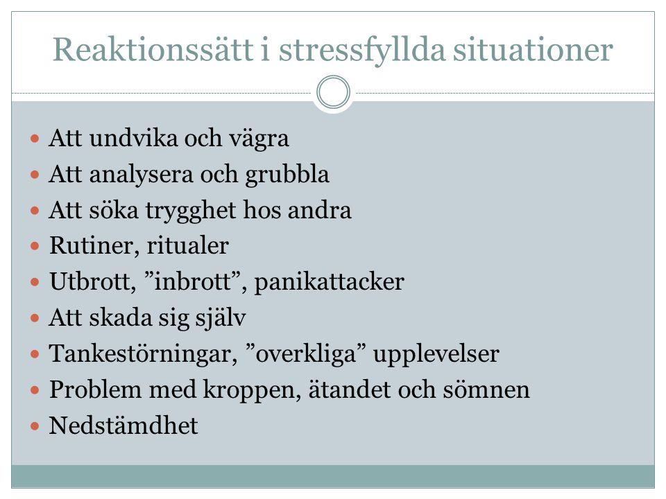 Reaktionssätt i stressfyllda situationer