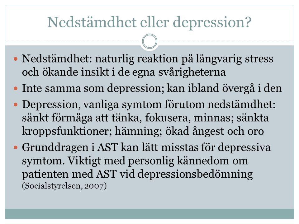 Nedstämdhet eller depression