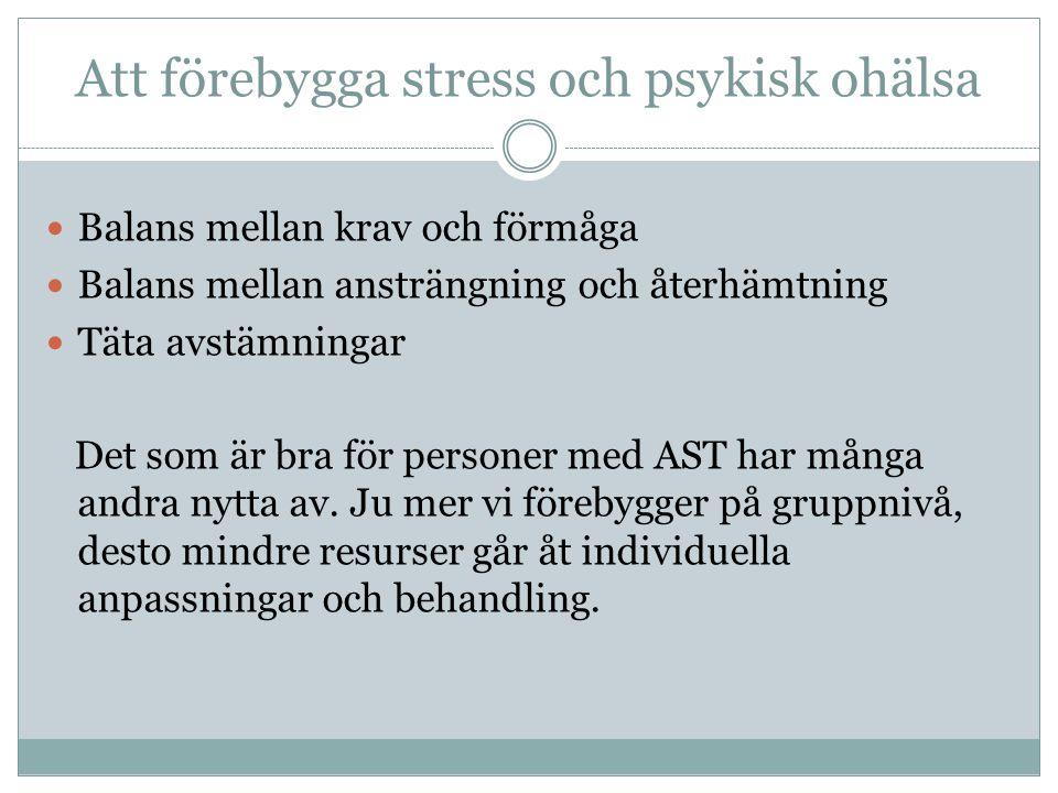 Att förebygga stress och psykisk ohälsa