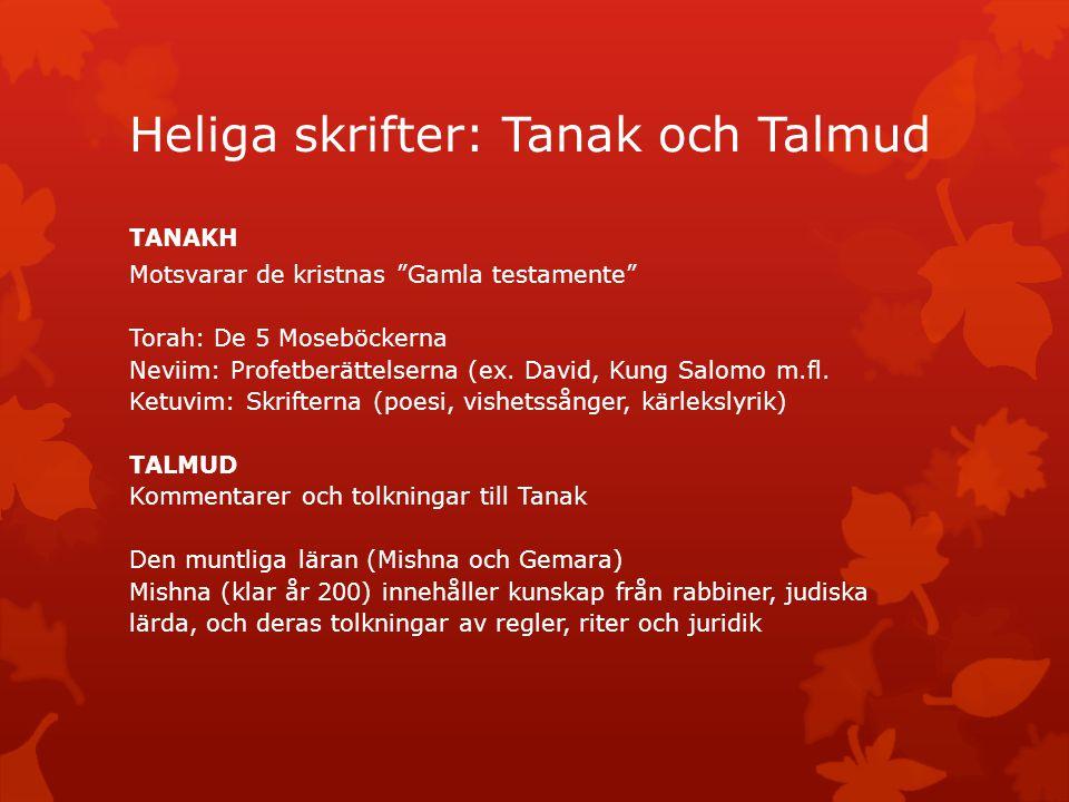 Heliga skrifter: Tanak och Talmud