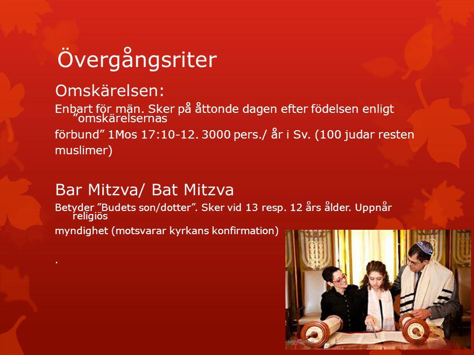Övergångsriter Omskärelsen: Bar Mitzva/ Bat Mitzva
