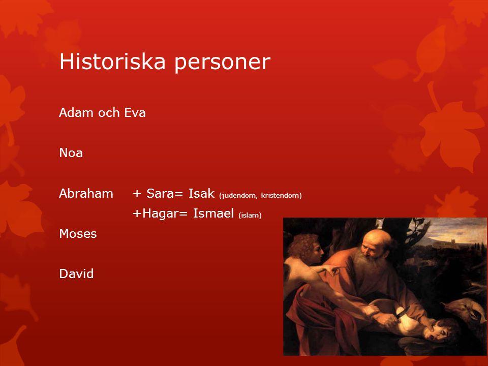 Historiska personer Adam och Eva Noa
