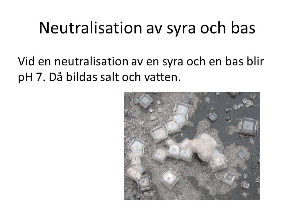 Neutralisation av syra och bas