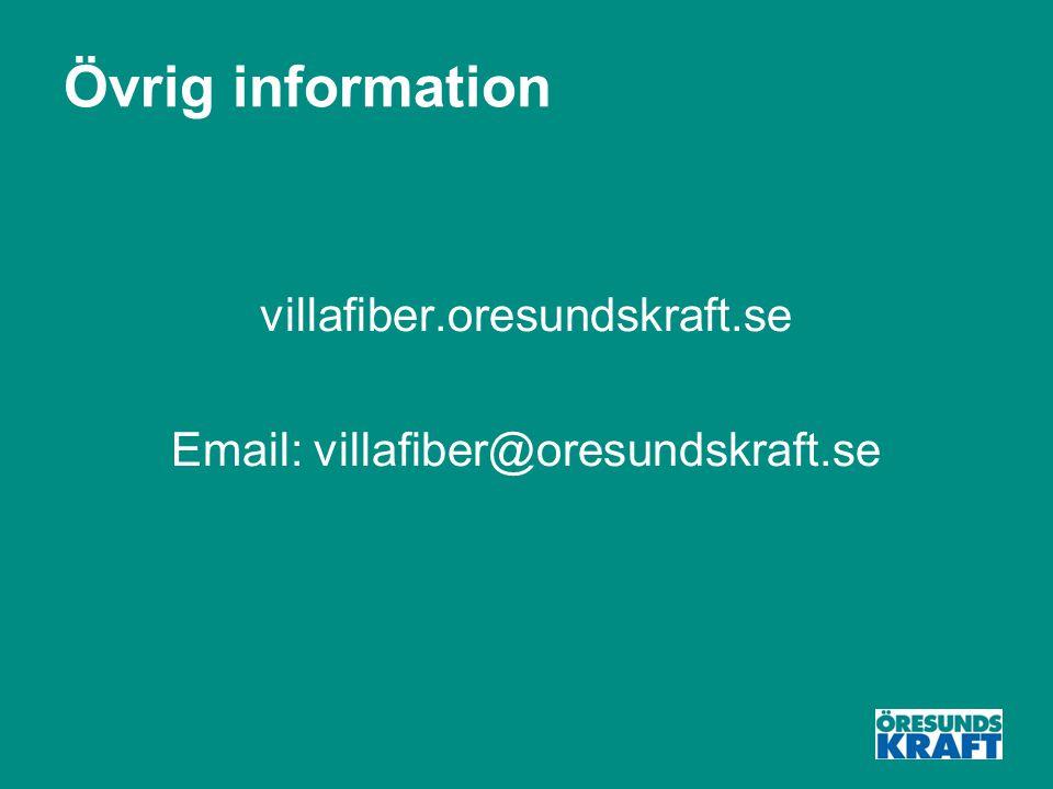 Övrig information villafiber.oresundskraft.se