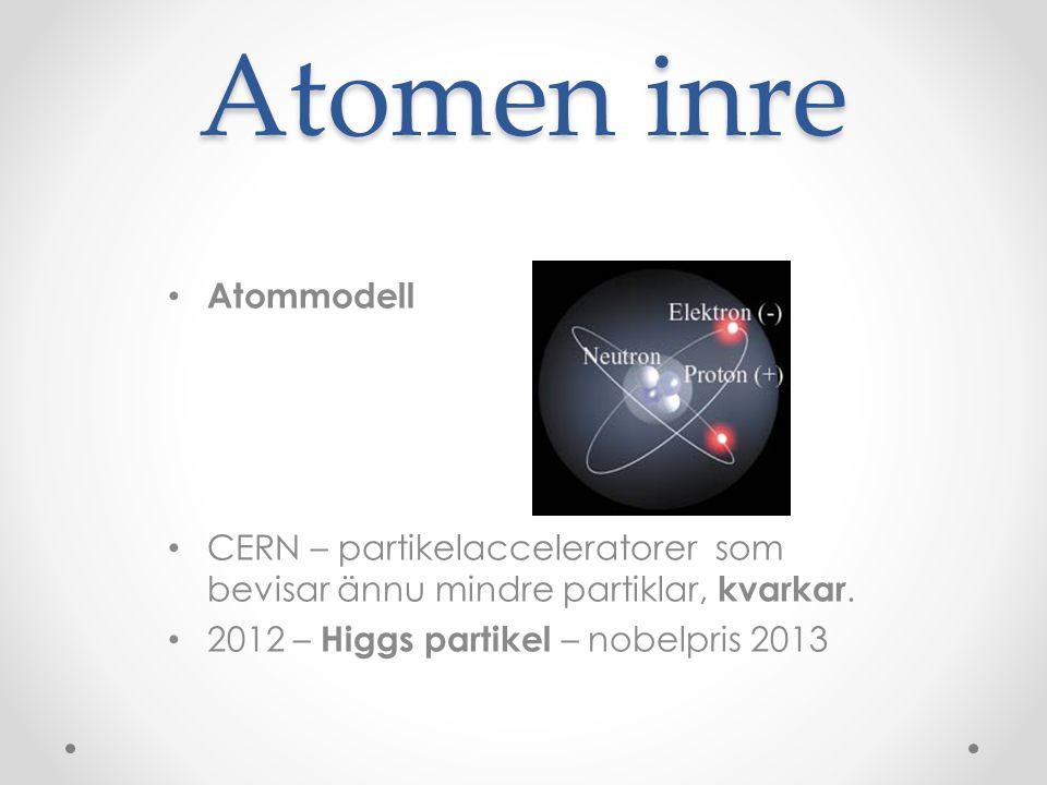 Atomen inre Atommodell