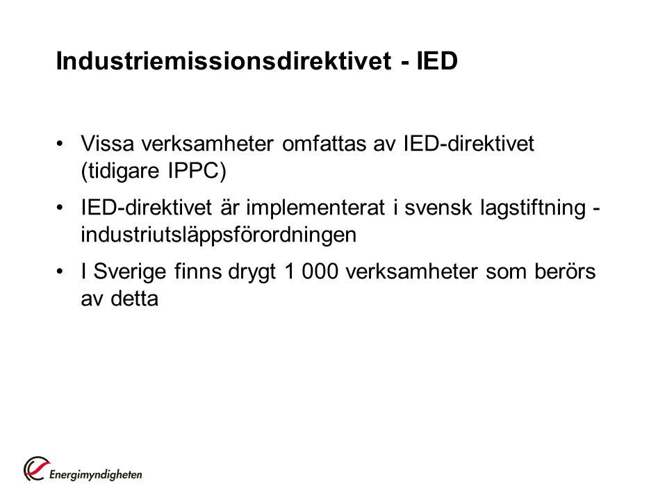 Industriemissionsdirektivet - IED