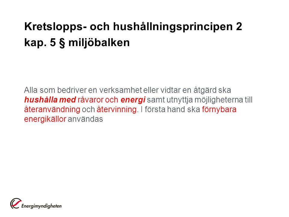 Kretslopps- och hushållningsprincipen 2 kap. 5 § miljöbalken