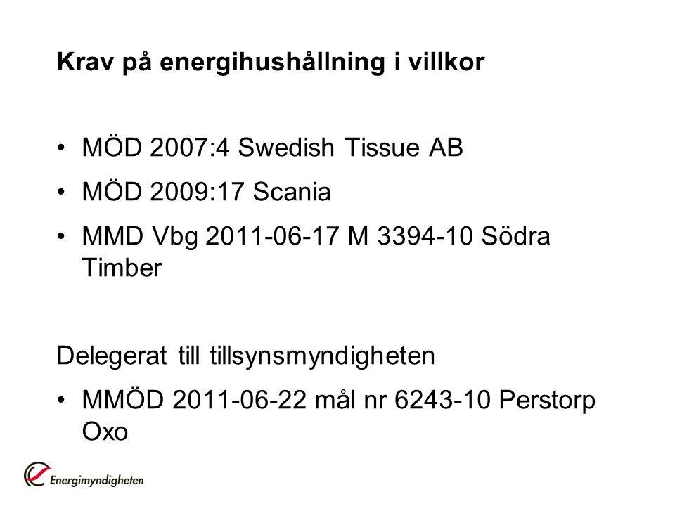 Krav på energihushållning i villkor
