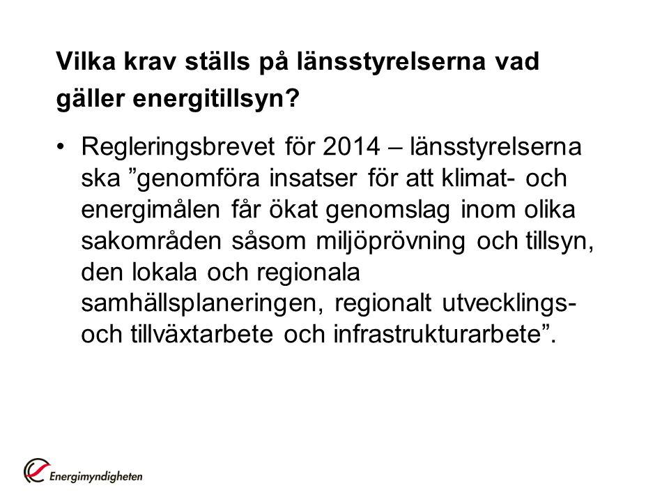 Vilka krav ställs på länsstyrelserna vad gäller energitillsyn