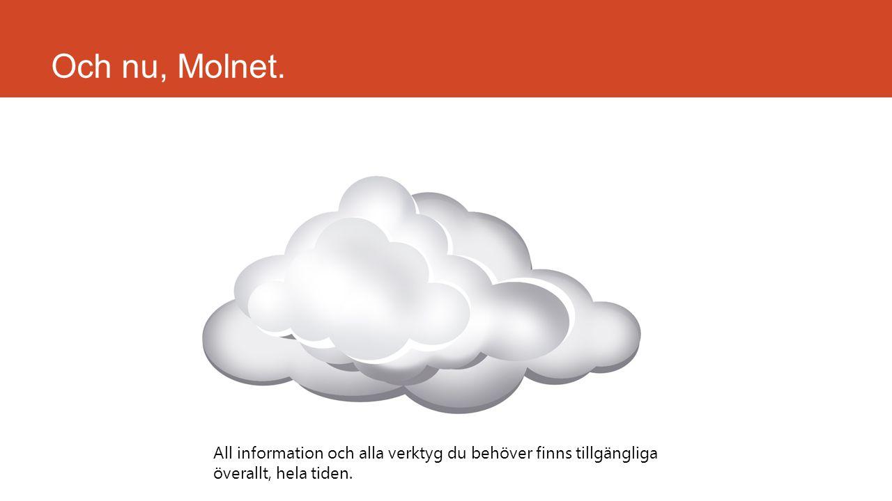 Och nu, Molnet.