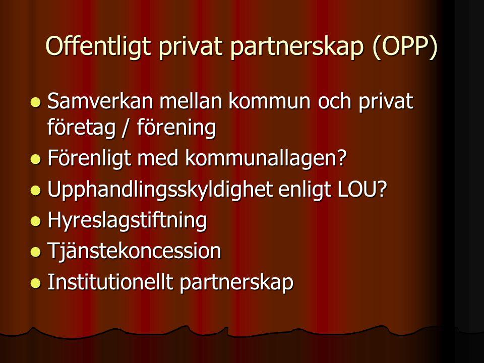 Offentligt privat partnerskap (OPP)