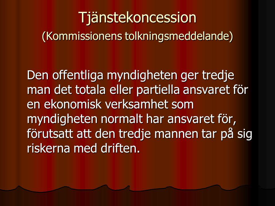 Tjänstekoncession (Kommissionens tolkningsmeddelande)