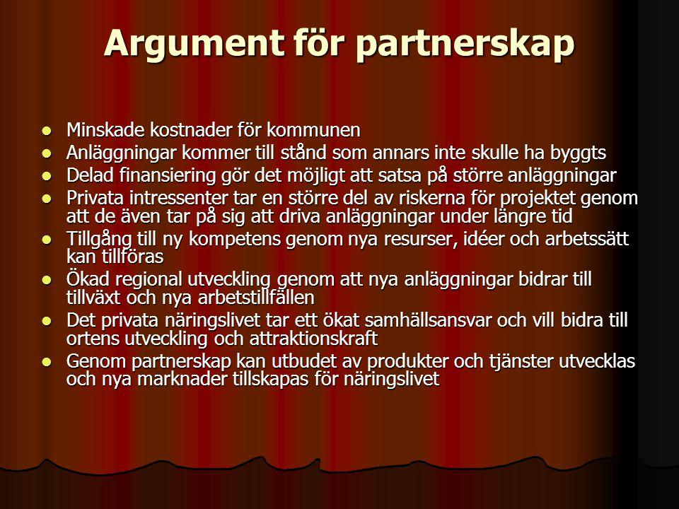 Argument för partnerskap