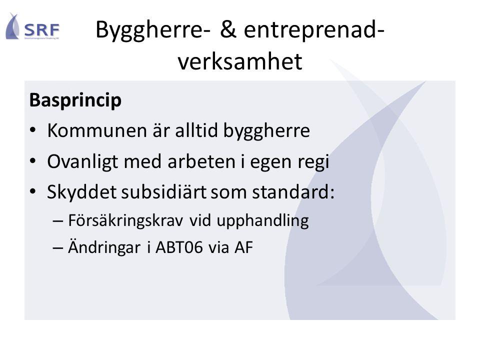 Byggherre- & entreprenad- verksamhet