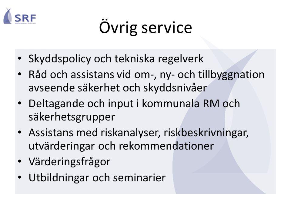 Övrig service Skyddspolicy och tekniska regelverk