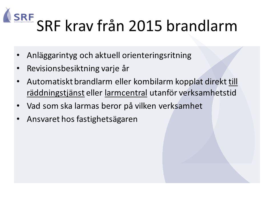SRF krav från 2015 brandlarm