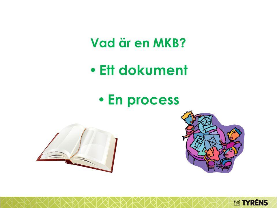 Ett dokument En process