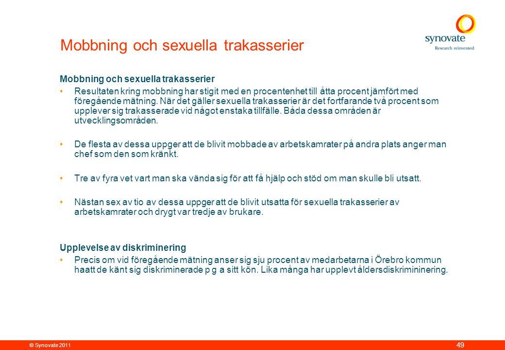 Mobbning och sexuella trakasserier