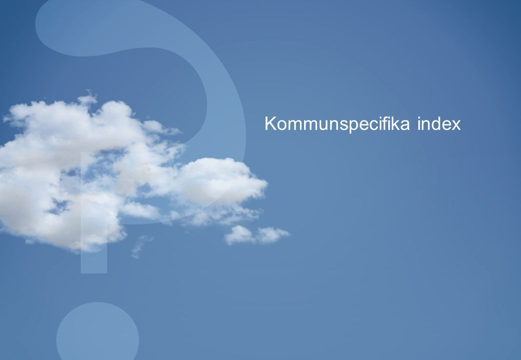 Kommunspecifika index
