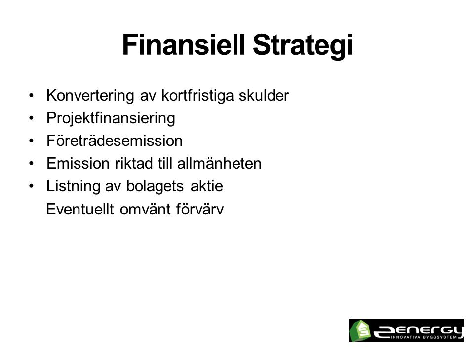 Finansiell Strategi Konvertering av kortfristiga skulder