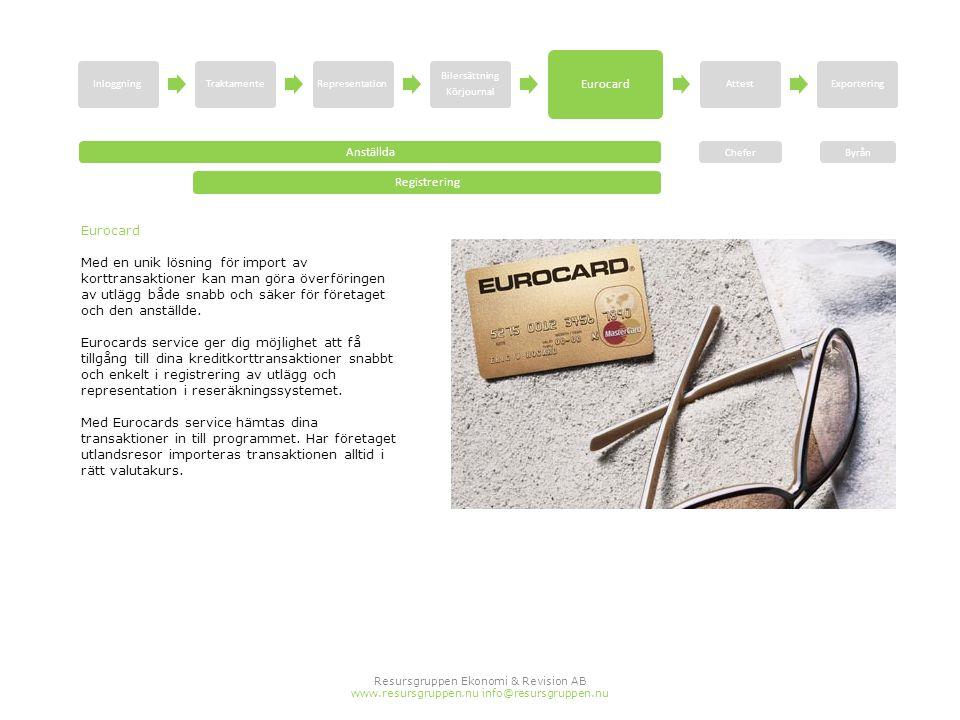 Eurocard Anställda Registrering Eurocard