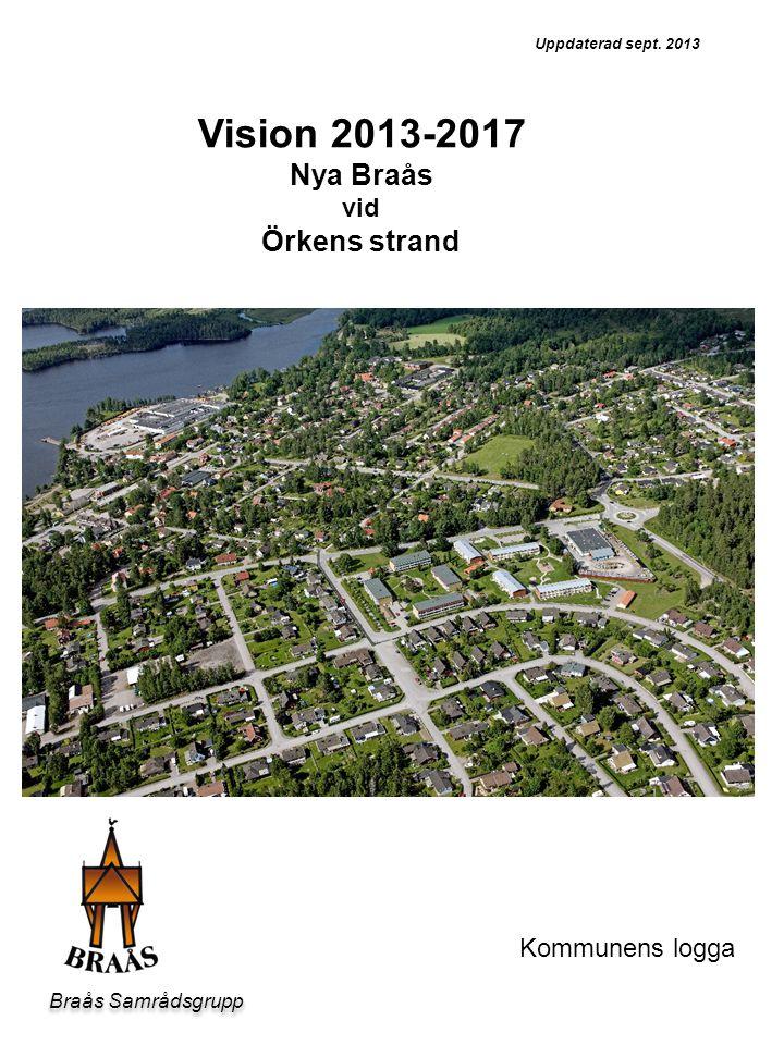 Bild Vision 2013-2017 Nya Braås Örkens strand vid Kommunens logga