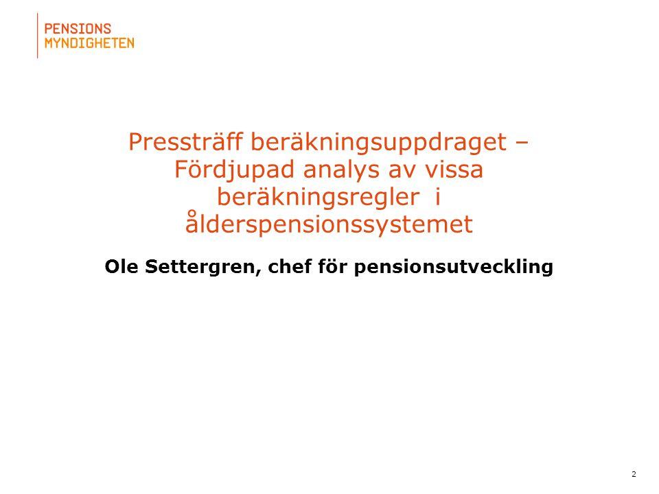 Ole Settergren, chef för pensionsutveckling