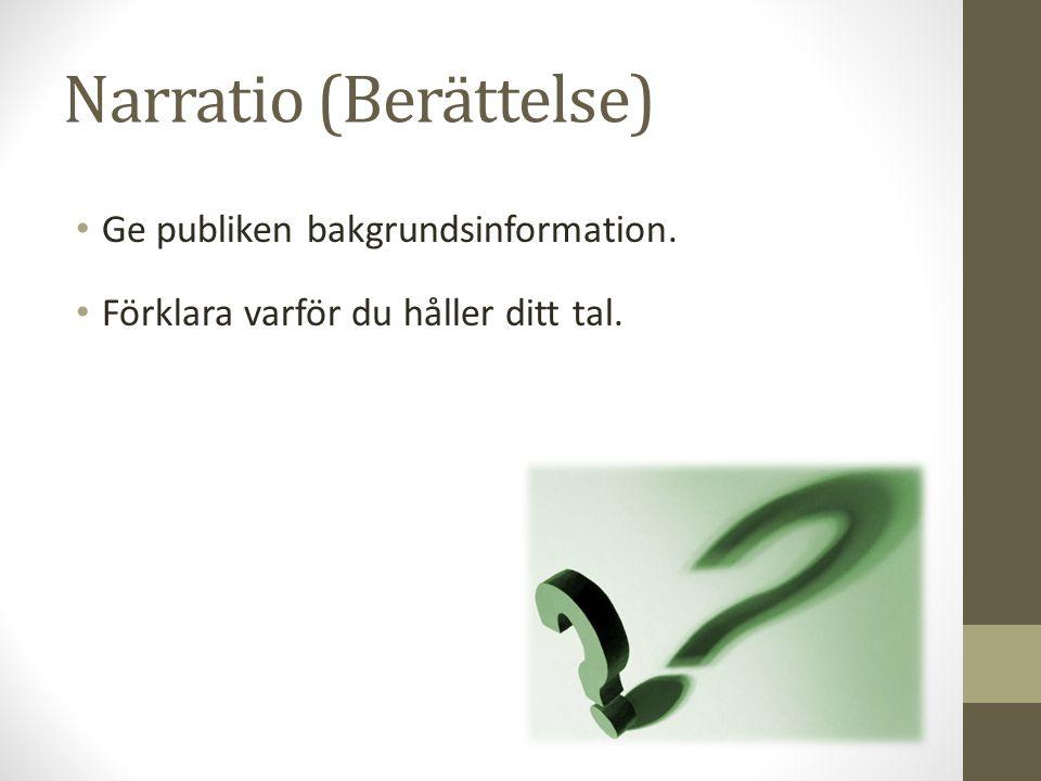 Narratio (Berättelse)