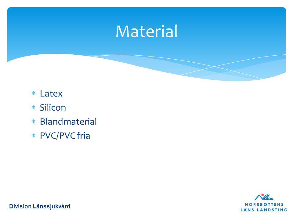 Material Latex Silicon Blandmaterial PVC/PVC fria