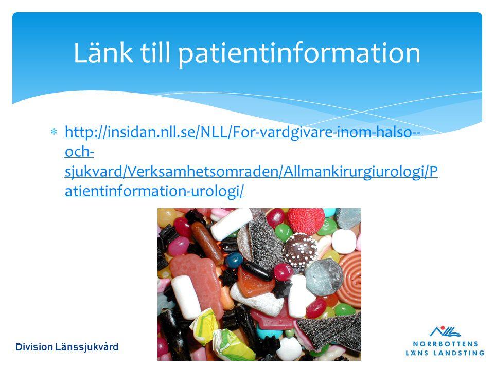 Länk till patientinformation