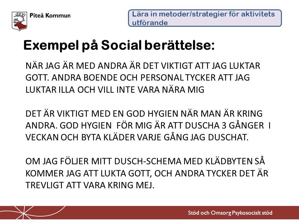Exempel på Social berättelse: