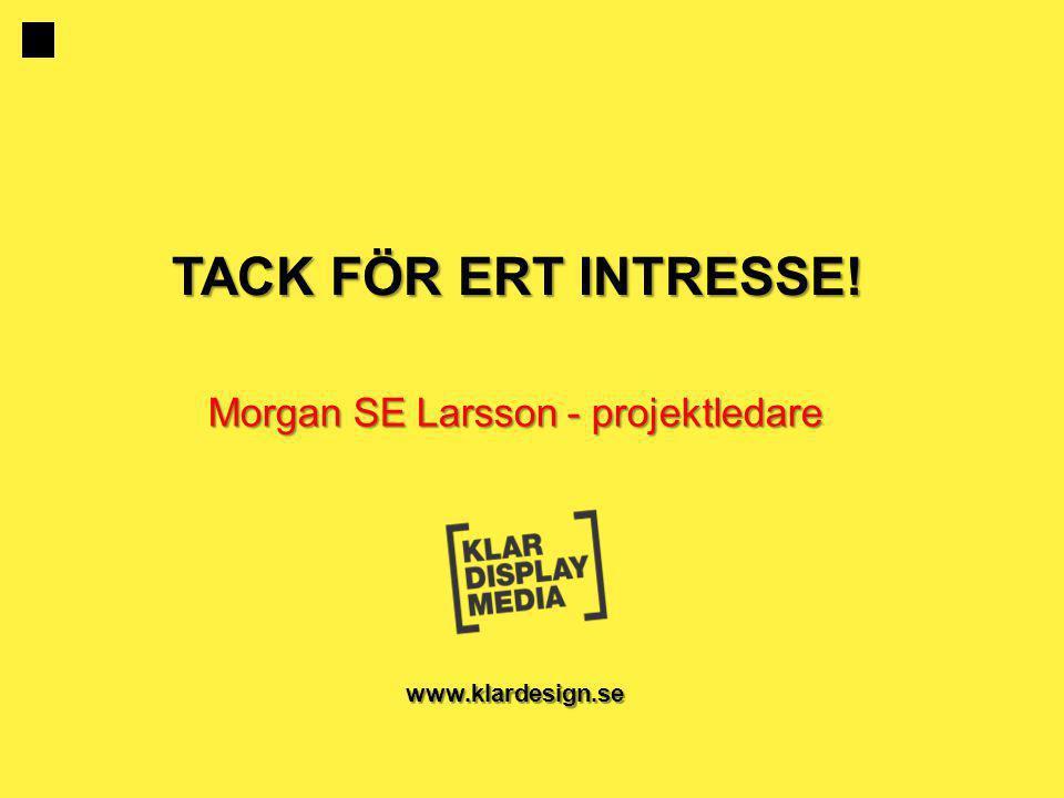Morgan SE Larsson - projektledare