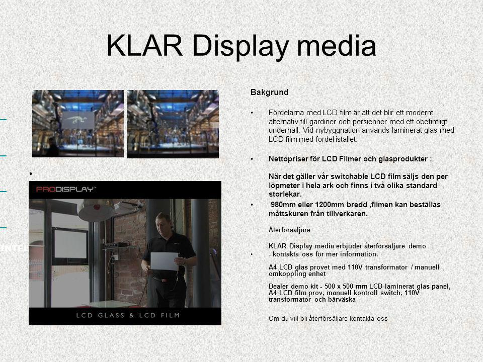 KLAR Display media INTELLIGENT FILM SCREENS Bakgrund