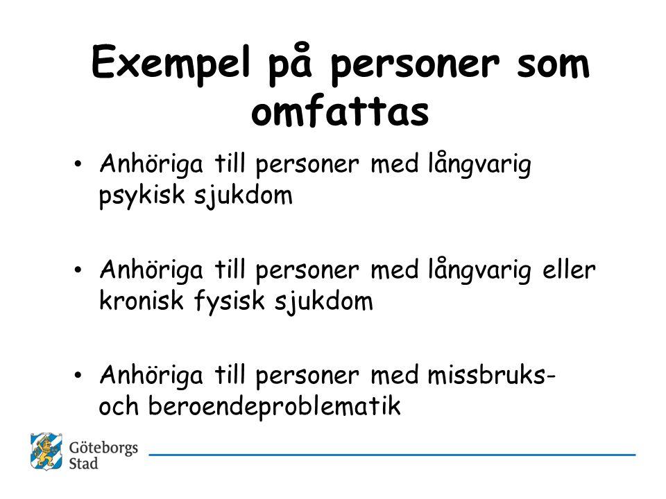 Exempel på personer som omfattas