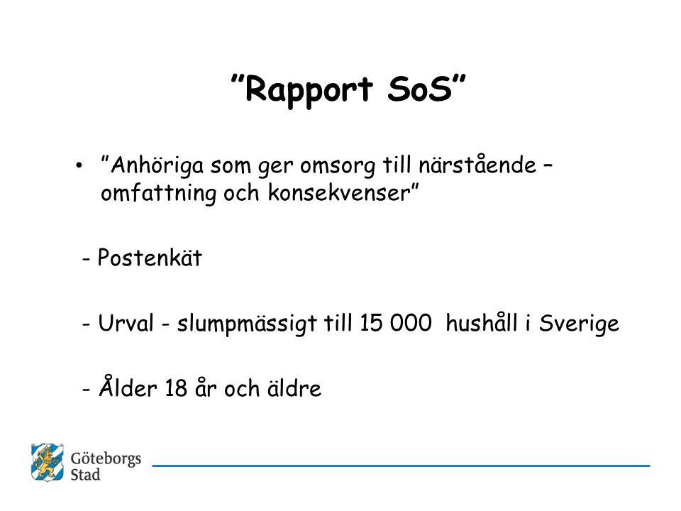 Rapport SoS Anhöriga som ger omsorg till närstående – omfattning och konsekvenser - Postenkät.