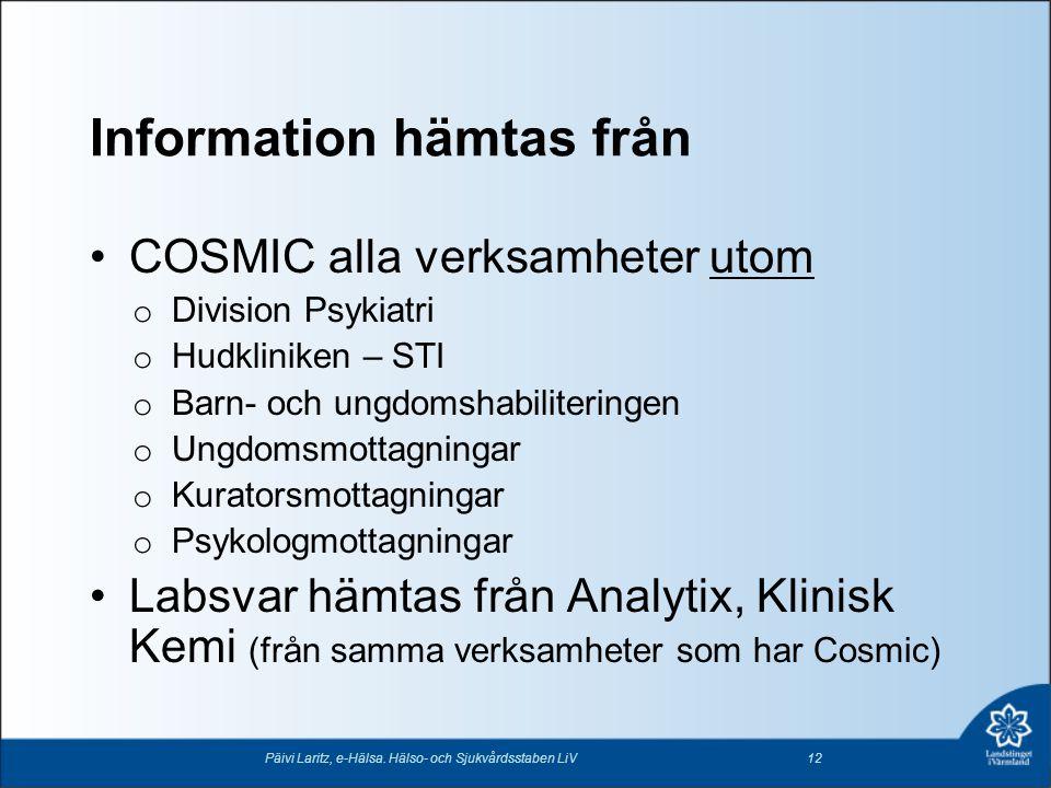 Information hämtas från