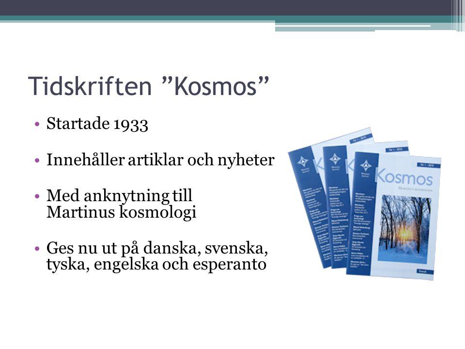 Tidskriften Kosmos Startade 1933 Innehåller artiklar och nyheter