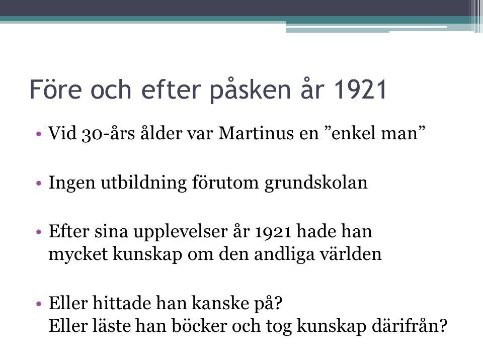 Före och efter påsken år 1921