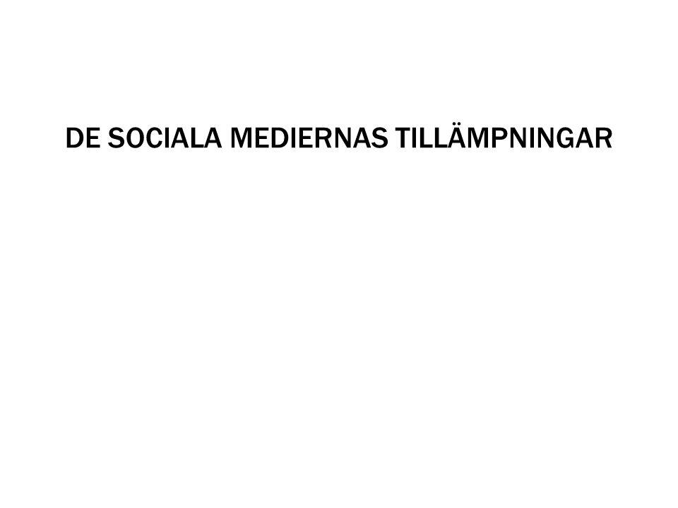 DE SOCIALA MEDIERNAS TILLÄMPNINGAR
