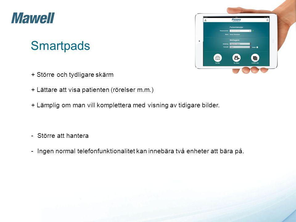 Smartpads + Större och tydligare skärm