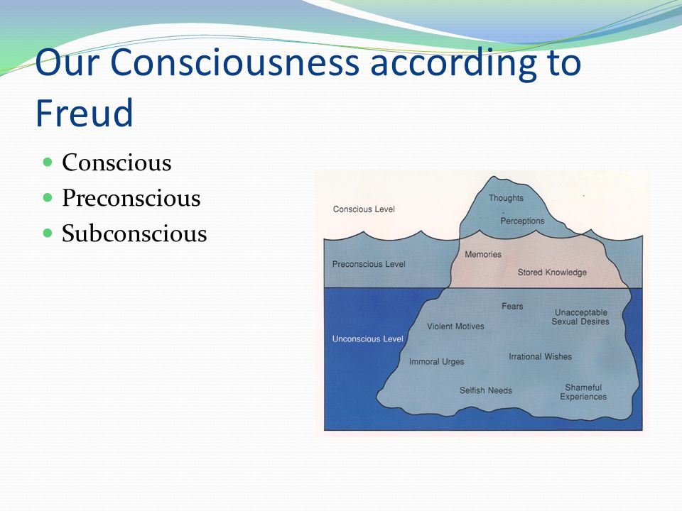 Our Consciousness according to Freud