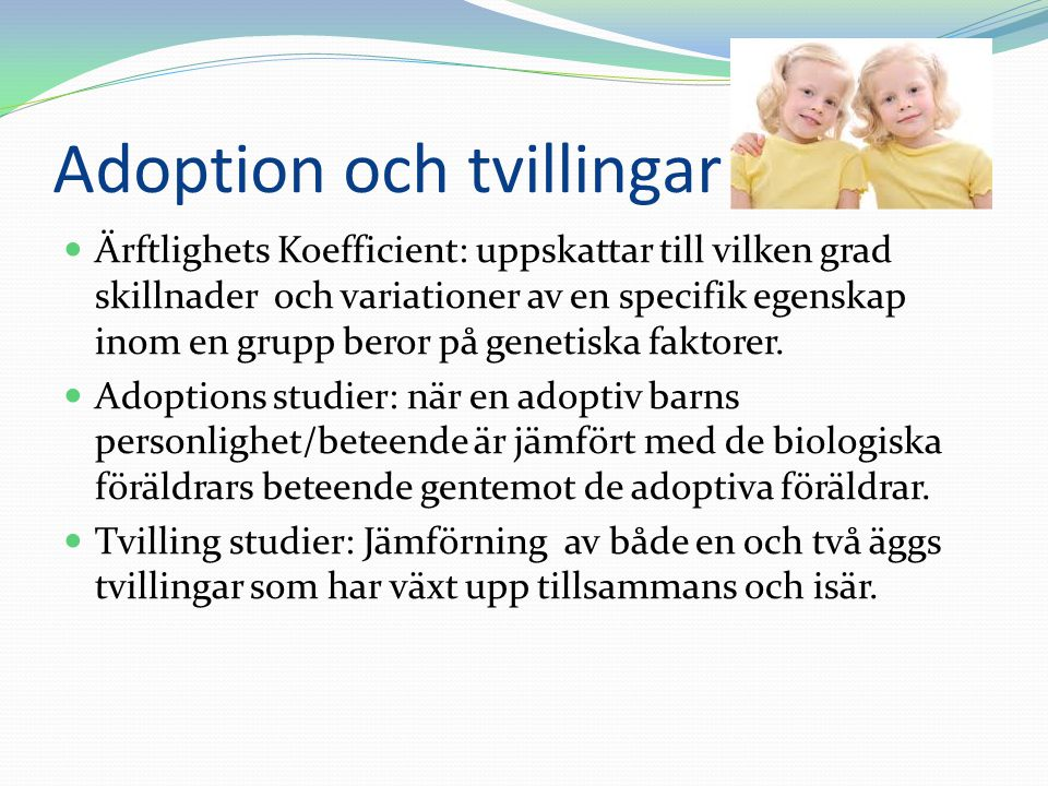Adoption och tvillingar