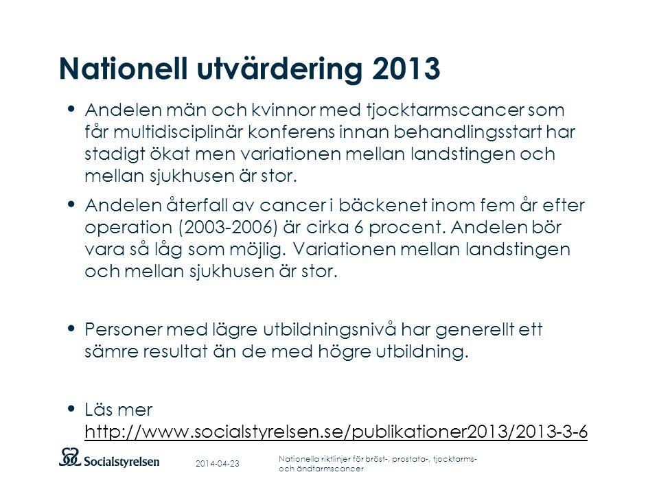 Nationell utvärdering 2013