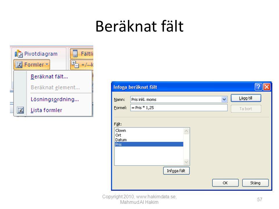 Copyright 2010, www.hakimdata.se, Mahmud Al Hakim