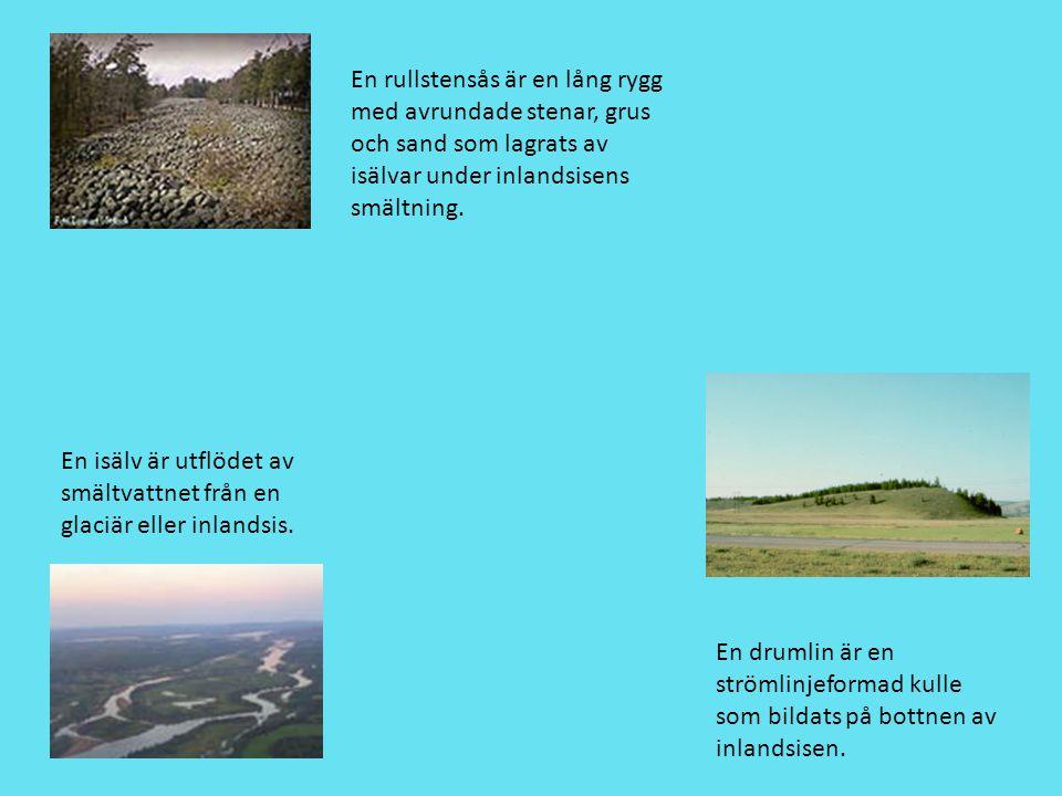 En rullstensås är en lång rygg med avrundade stenar, grus och sand som lagrats av isälvar under inlandsisens smältning.