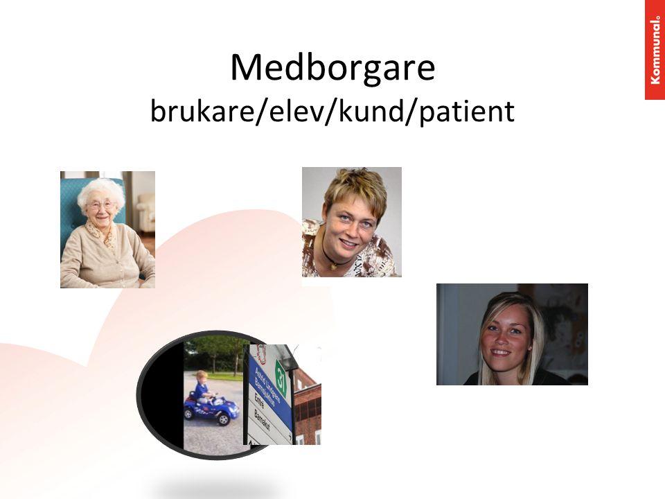 Medborgare brukare/elev/kund/patient