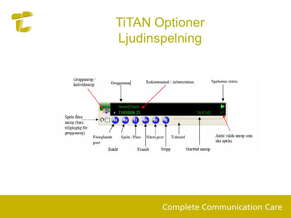 TiTAN Optioner Ljudinspelning