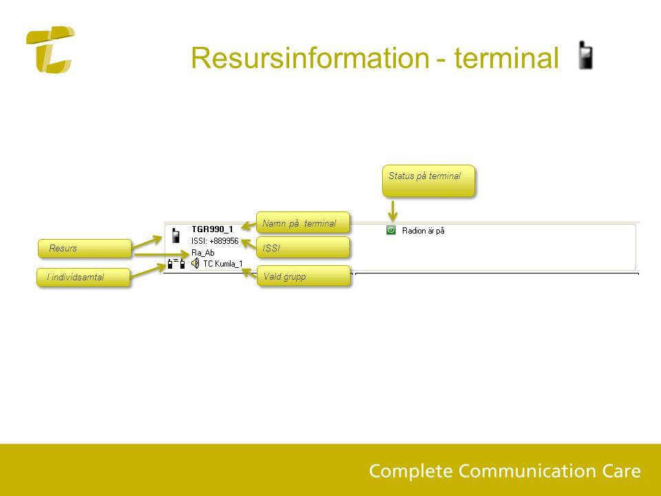 Resursinformation - terminal
