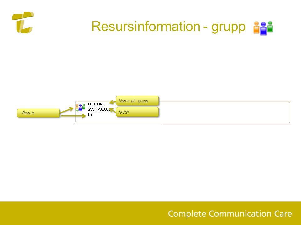 Resursinformation - grupp
